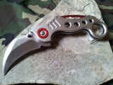 Tac Force Karambit Style Silver Aluminum Rescue Tactical Pocket Knife - 578s