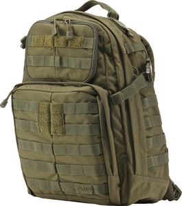 5.11 Tactical Rush 24 Outdoor Survival Hiking & Camping OD Green Backpack