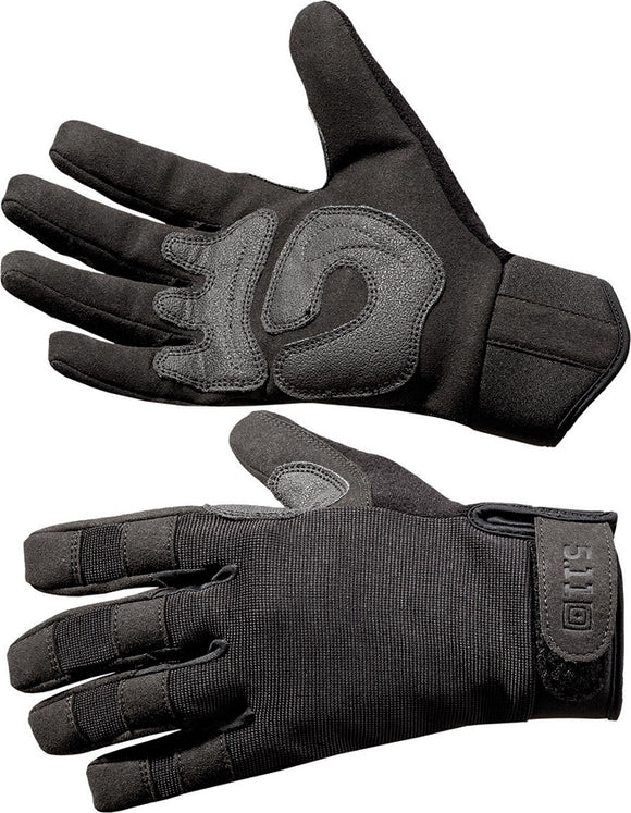 5.11 Tacitcal A2 Black Faux Leather Suede Palm Large Men's Gloves