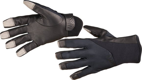 5.11 Tactical Screen Ops Duty Black Leather Palm Driving & Weapon Handling 2XL Men's Gloves
