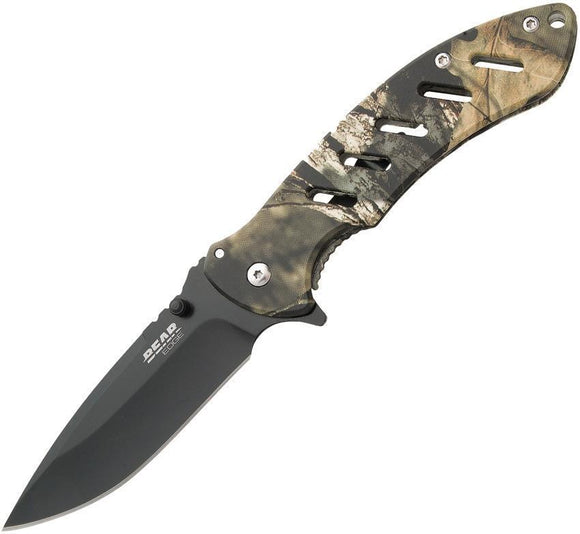 Bear Edge Knives Brisk 1.0 Mossy Oak Camo Framelock Folding Blade Knife