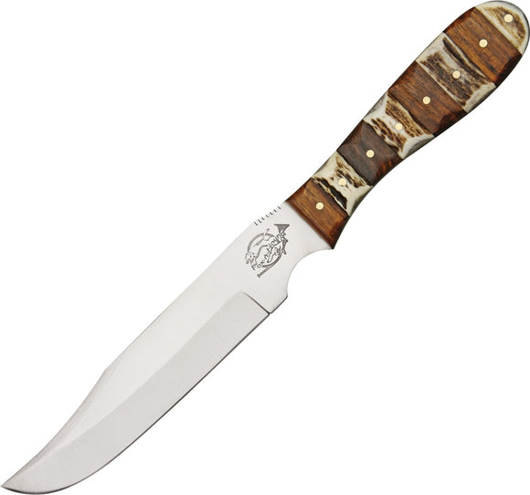 Fox N Hound Skinner Wood Stag Fixed Blade Knife 622