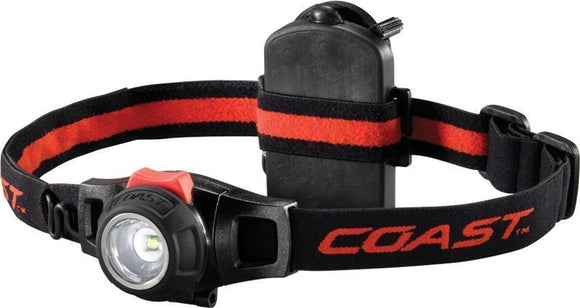 Coast HL7 LED Hi Low 305 lumen 127m Black & Red Adjustable Headlamp