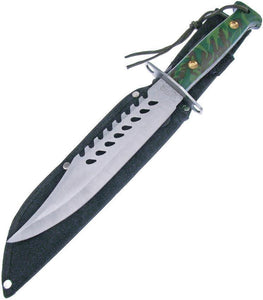 Frost Cutlery Survival Stainless Fixed Green Camo Handle Knife