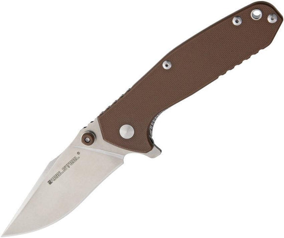 Real Steel H5 Gerfalcon Desert Brown G10 Handle Stainless Folding Knife