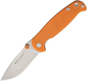 Real Steel H6-S1 Framelock Orange G10 Handle 14C28N Stainless Folding Knife