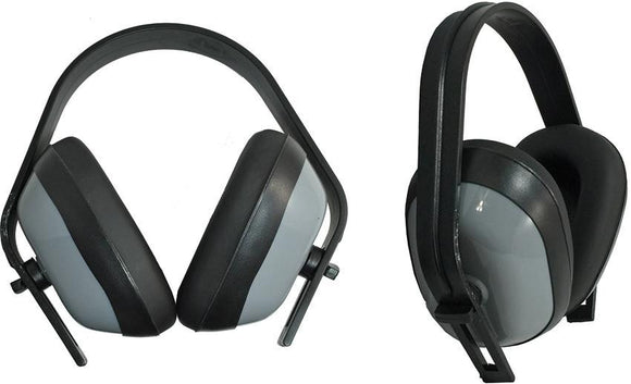ABKT Tac Grey Ear Muffs 25 Db w/ Adjustable Headband - 080g