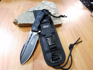 MTech Extreme Blackwash 440C Tactical Fixed Blade Knife