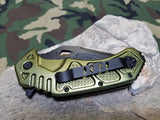 "8"" MTech Folding Knife Tactical Assisted A/O Green Stainless 1/2 Serrated - a873gn"