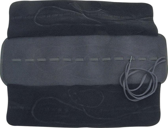 Knife Roll Rug - Holds 12 Knives  Black w/ Cloth Lining - ac92
