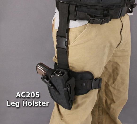 Carry All Black Strap Adjustable Tactical Concealed Gun Drop Leg Holster