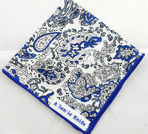 Atlantic Knife Pocket Hanks Blue Paisley 320