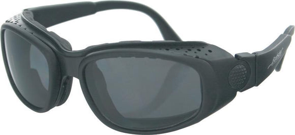 Bobster Sport & Street Convertible Sunglasses Black Motorcycle Goggles