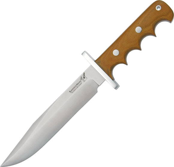 Blackjack Halo Attack Natural Micarta A-2 Tool Steel Fixed Blade Knife 14NM