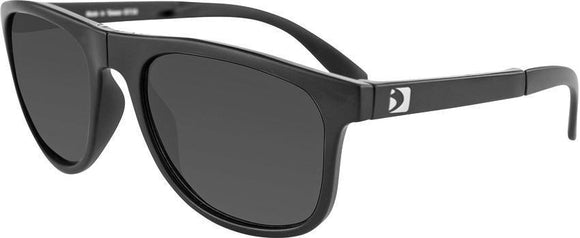 Bobster Hex Folding Sunglasses Fog-Proof Shatter Resistant Black Frames