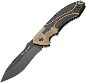 Boker Magnum Advance Pro 42 Linerlock Tan Folding 440C Pocket Knife 01RY308