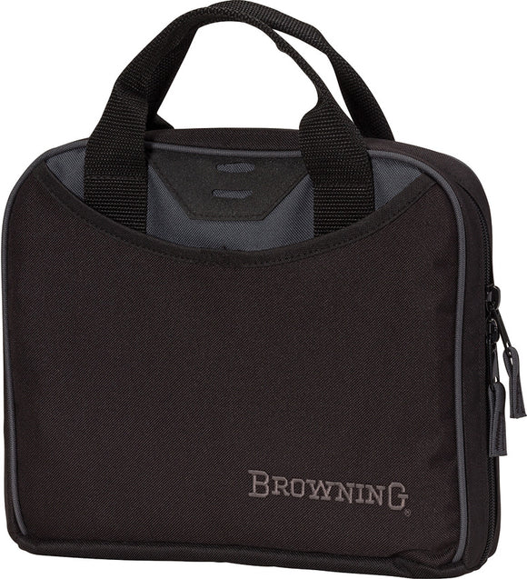 Browning Black Material 2 Handles Zipper Crossfire Single Pistol Gun Case 01099