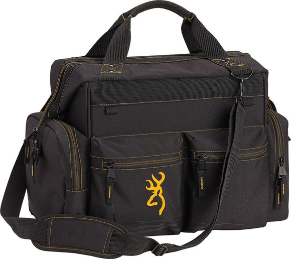 Browning Gun Shooting Range Black & Gold Carrying Duffel Bag 5899