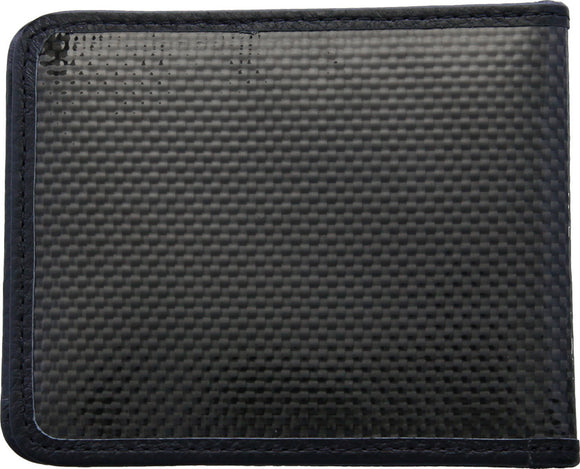 Bastion Carbon Fiber / Leather Black Bi-Fold Wallet 229