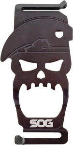"SOG Bite Bottle Opener 3"" Black Skull"