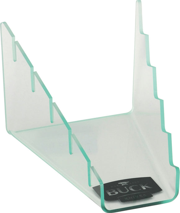 BUCK Knives Black Logo Holds Five Knives Display Clear Transparent Acrylic Knife Stand 21005