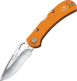 BUCK Knives SpitFire Lockback Orange Handle Folding Drop Pt Blade Knife 722ORS1