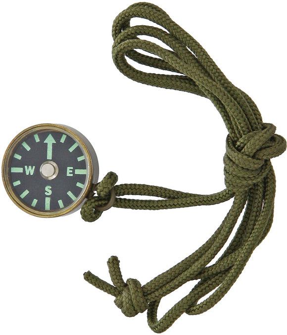 Combat Ready Glow-In-The-Dark Compass with OD Green Neck Lanyard 337