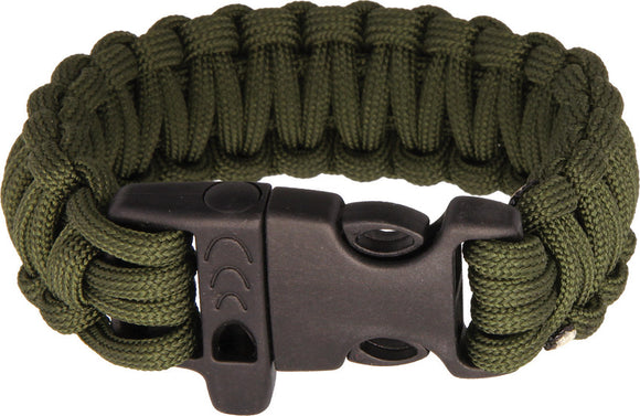Combat Ready 8'' OD Green Paracord Survival Bracelet 360