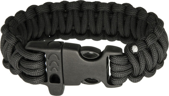 Combat Ready 9'' Black Paracord Survival Bracelet 361
