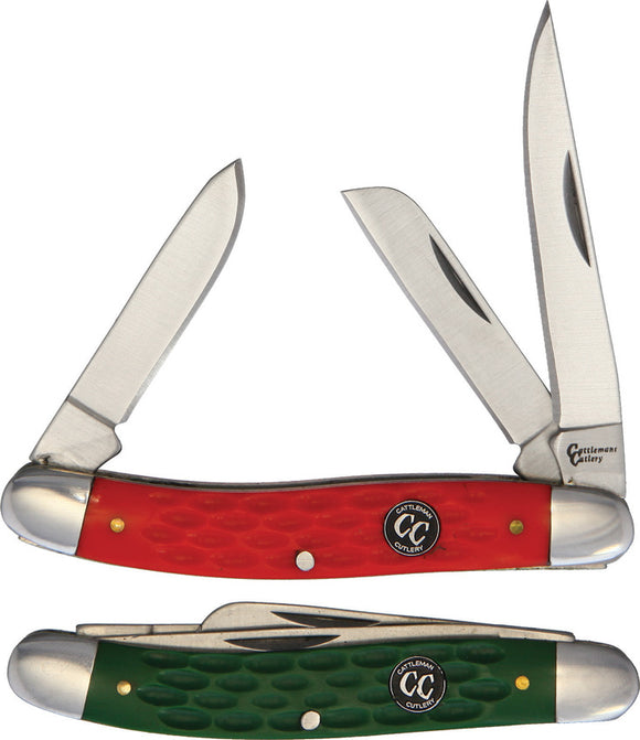 Cattleman's Cutlery 2pc Folding Stockman Pocket Knife Christmas Gift Set 001GRC