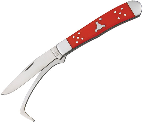 Cattleman's Cutlery Farriers Companion Red Hoof Pick Blade Folding Knife 0067RD