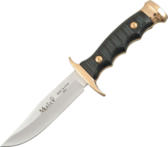 Muela Premium 420C Stainless Fixed Bowie Knife w/ Leather Belt Sheath CI7100