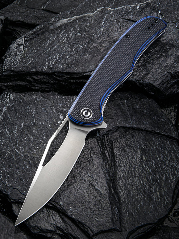 Civivi Shredder Linerlock Blue/Black G10 Folding D2 Steel Pocket Knife 912A