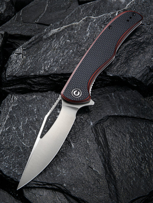 Civivi Shredder Linerlock Red/Black G10 Folding D2 Steel Pocket Knife 912B