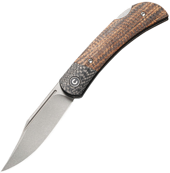 Civivi Rustic Gent Lockback Micarta Folding Pocket Knife 914e