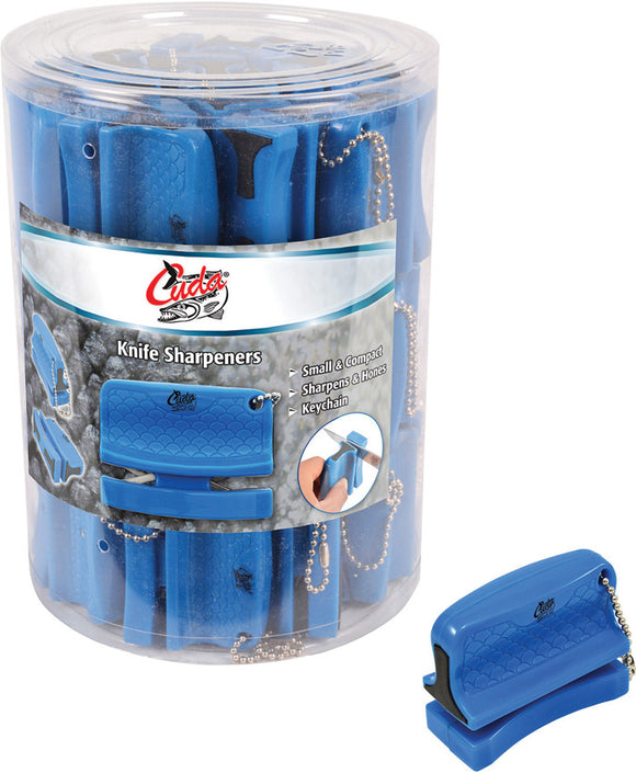 Camillus Cuda Fishing 42pc Bucket of Knife & Fish Hook Keyring Sharpeners 23020