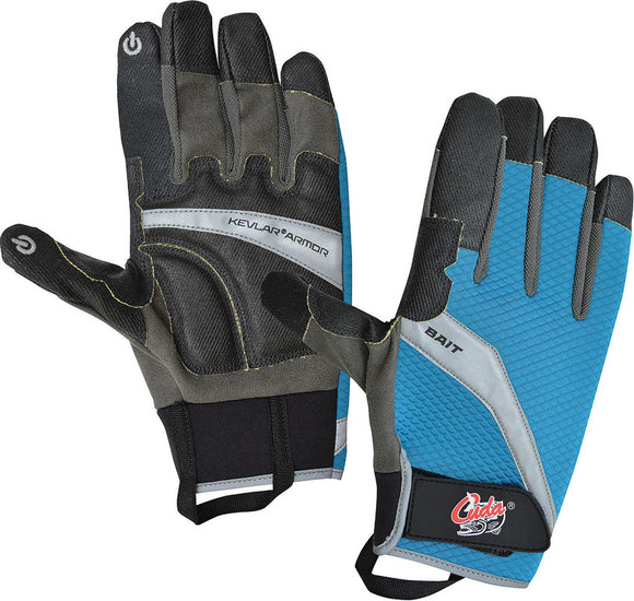Camillus Black & Blue 2XL Cuda Tools Fishing Bait Cutting Gloves 23024