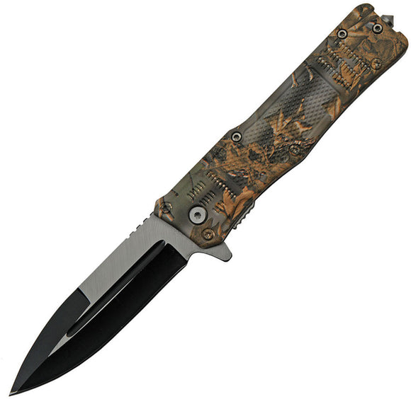 China Made Camo Linerlock A/O Assisted Folding Knife 300513cm
