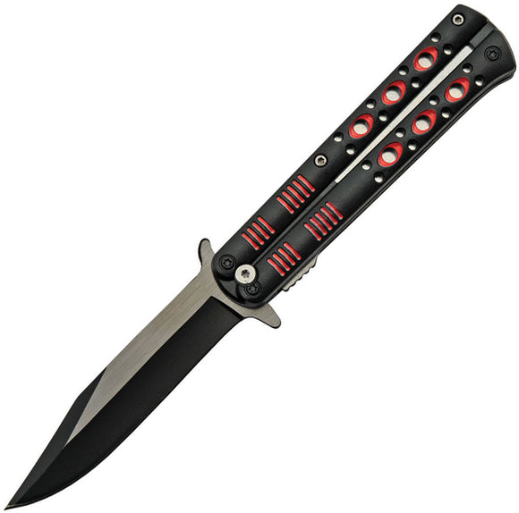 China Made Fly Linerlock A/O Red Assisted Folding Knife 300514rd