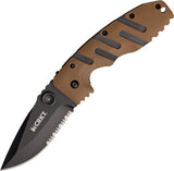 CRKT Ryan Model 7 Desert Tan Handles Tactical Linerlock Pocket Knife - 6813DZ