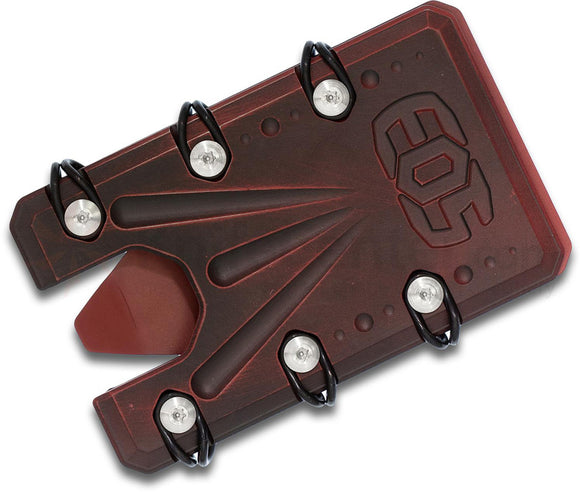 EOS 2.0 Card & Money Wallet Red Battle Titanium Bottle Opener Multi-Tool WAL2R