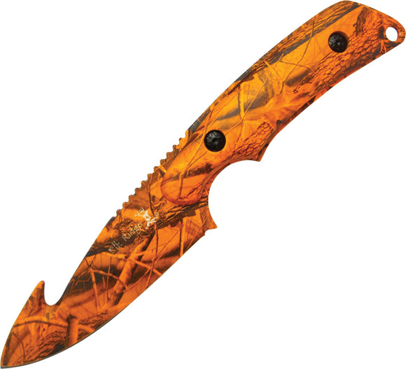 Elk Ridge Guthook Hunter Orange Camo Skinner Knife - 116OC