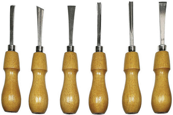 Excel Blades 6pc Deluxe Woodcarving Tool Chisels Set w/ Case 56009