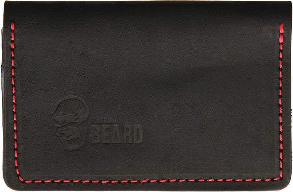 Flagrant Beard Black Red Stitched Wallet 3602bk