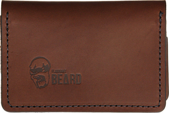 Flagrant Beard Brown & Black Stitched Wallet 3604br