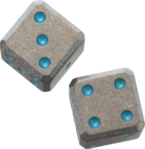 Flytanium Titanium  Cuboid Dice Green with Pips 171