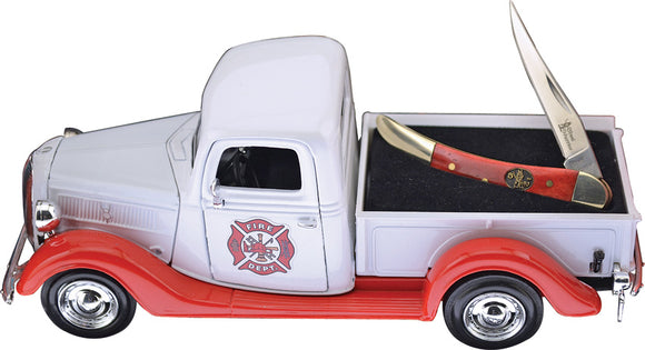 Frost Cutlery 1937 Ford Pickup Truck Firefighter Folding Blade Pocket Knife PUFF