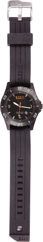 5.11 Tactical Sentinel Black Scratch Resistant 3-Hand Watch 50133019