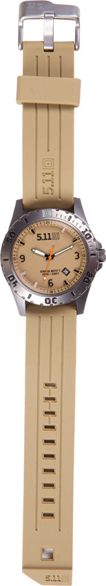 5.11 Tactical Sentinel Coyote Brown Scratch Resistant 3-Hand Watch 50133120