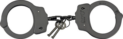 Fury Tactical Handcuffs Chain Black Finish Steel Locking 15912
